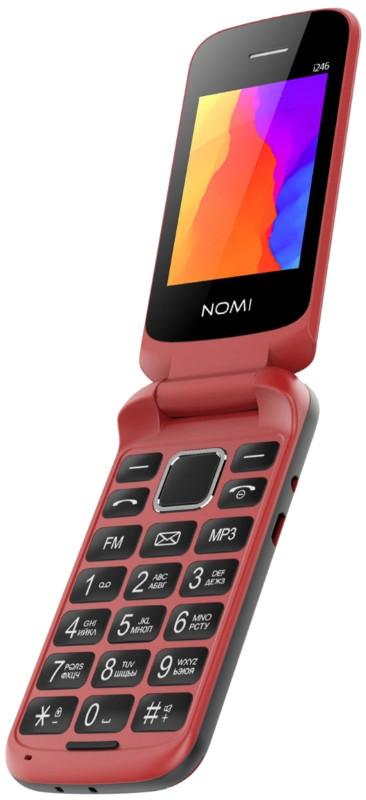Мобільний телефон Nomi i246 Red (Червоний)