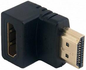 Адаптер HDMI AM - AF кут 90° Чорний, фото 2