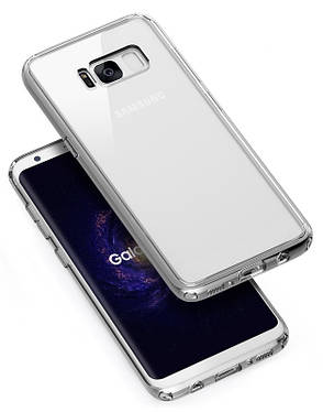 Чохол-накладка Rock RPC1226 для Samsung G955 S8 Plus Pure ser.TPU+PC Прозорий/чорний, фото 2