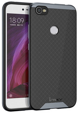 Чехол накладка iPaky для Xiaomi Redmi Note 5A / Y1 Lite TPU + PC Черный / Серый, фото 2