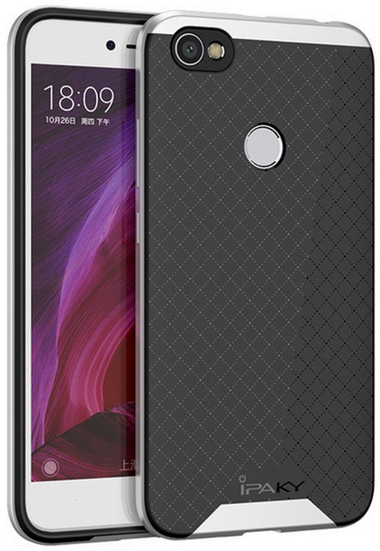 Чохол-накладка iPaky для Xiaomi Redmi Note 5A/ Y1 Lite TPU+PC Чорний/Сріблястий(399844)