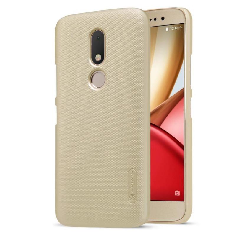 Чохол-накладка Nillkin для Motorola Moto M (XT1663/ XT1662) Matte ser. +плівка Золотистий(134454)