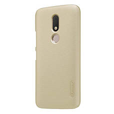 Чохол-накладка Nillkin для Motorola Moto M (XT1663/ XT1662) Matte ser. +плівка Золотистий(134454), фото 3