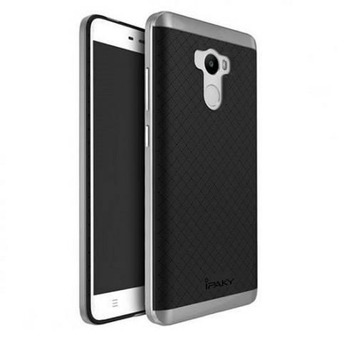 Чохол-накладка iPaky для Xiaomi Redmi 4 Pro TPU+PC Чорний/сірий, фото 2