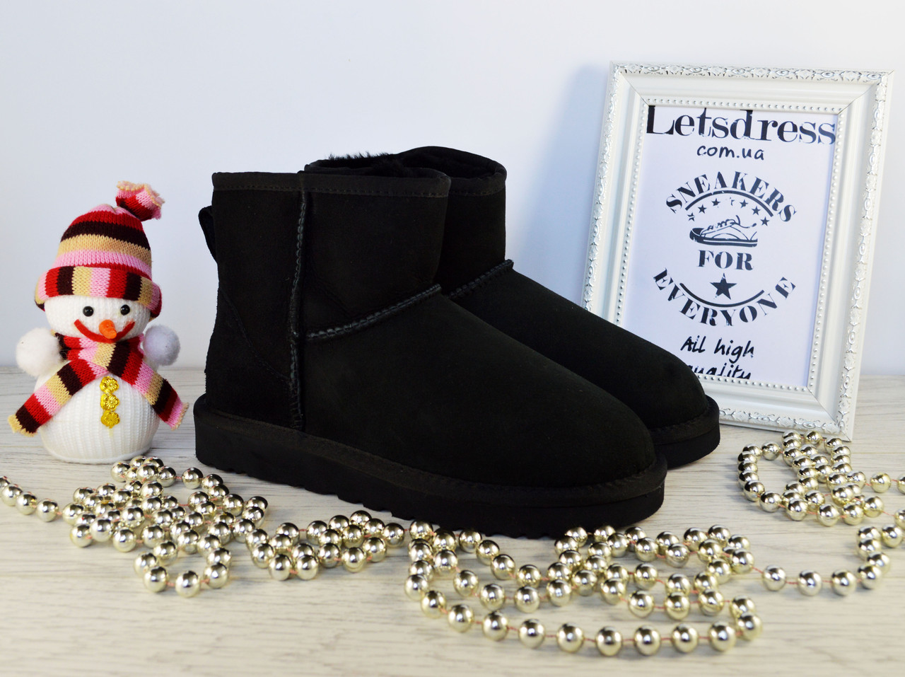 Угги женские UGG Australia Mini Black Classic original | Угги Автсралия классические черные