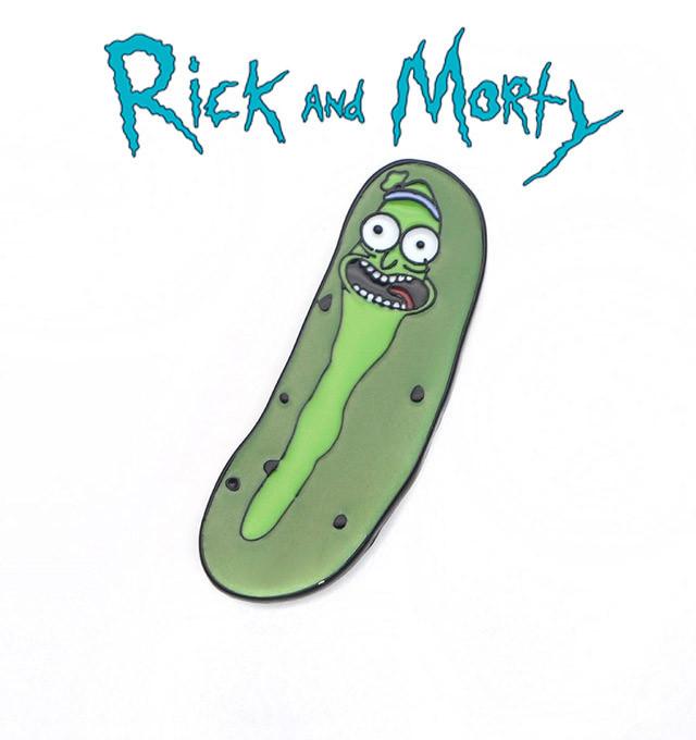 Брошь пин значок огурчик Рик Rick and Morty Рик и Морти