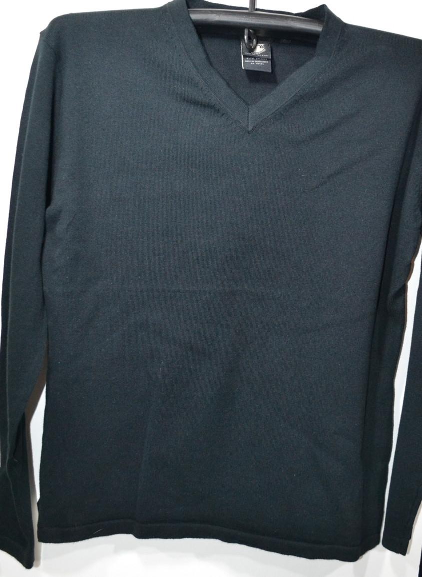 Тонкая черная трикотажная кофта BSL 100% хлопок (размеры от М до XXL)