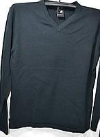 Тонкая черная трикотажная кофта BSL 100% хлопок (размеры от М до XXL), фото 1