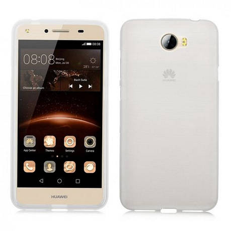 Чехол накладка TPU для Huawei Y5 II / Honor Play 5 Ultra thin ser. Прозрачный / бесцветный, фото 2
