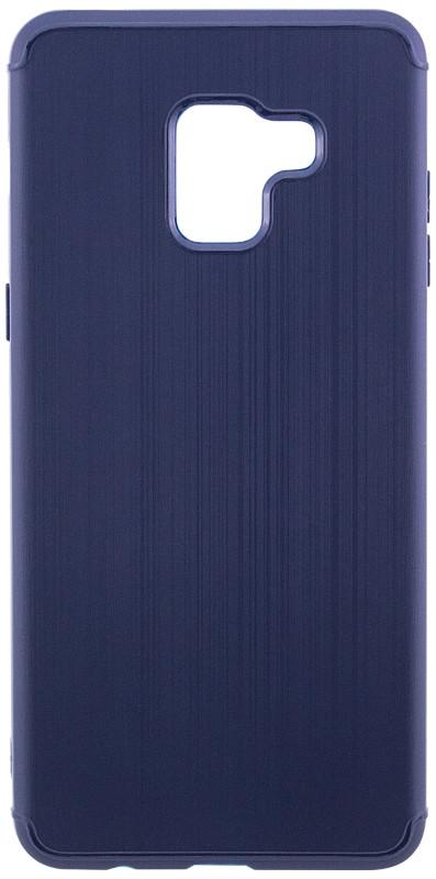 Чехол накладка Carbon для Samsung A530 Galaxy A8 (2018) Силикон Синий (486768)