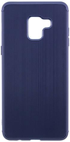 Чехол накладка Carbon для Samsung A530 Galaxy A8 (2018) Силикон Синий (486768), фото 2