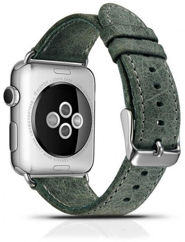 Ремінець Icarer для Apple iWatch 42mm Classic Genuine Leather ser. Зелений(993008)