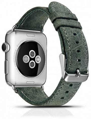 Ремінець Icarer для Apple iWatch 42mm Classic Genuine Leather ser. Зелений(993008), фото 2