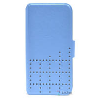 Чохол-книжка Hama для iPhone 5/5S/SE Dots ser. Блакитний