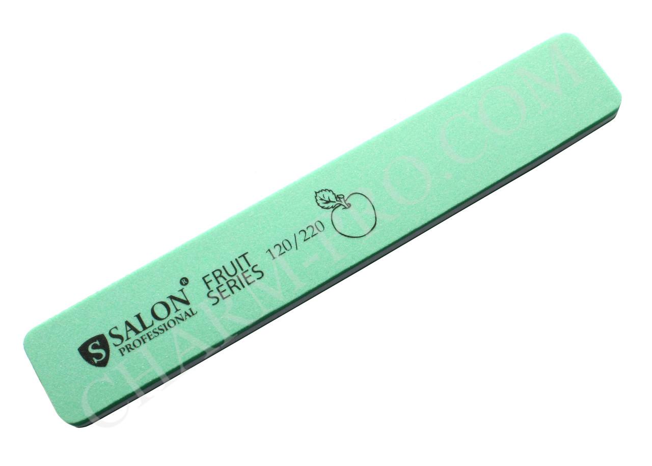 Прямая широкая пилка Salon Professional Fruit Series 120/220 (Apple)