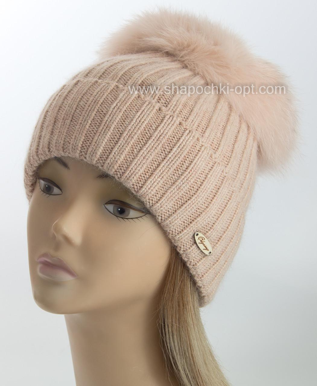 женская вязаная шапка эскимо цвет жемчуг продажа цена в одессе