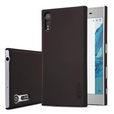 Чохол-накладка Nillkin для Sony Xperia XZ Matte ser. + плівка Чорний, фото 2