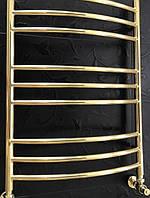 Золотой полотенцесушитель 500*700 Радуга 9 АЗОЦМ