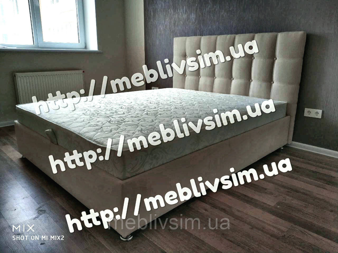 Кровать Лугано К или 2К с ламельным подматрасником