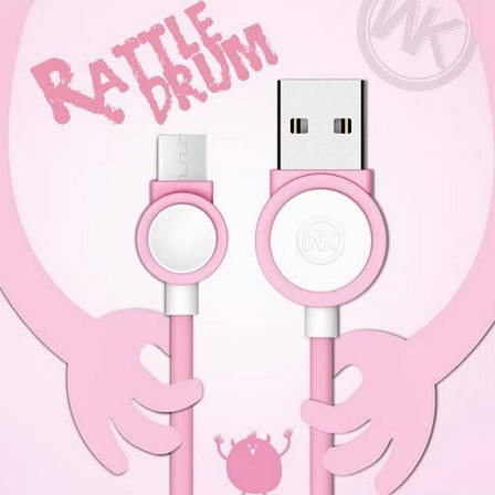 Кабель Remax micro USB Rattle Drum Розовый, фото 2
