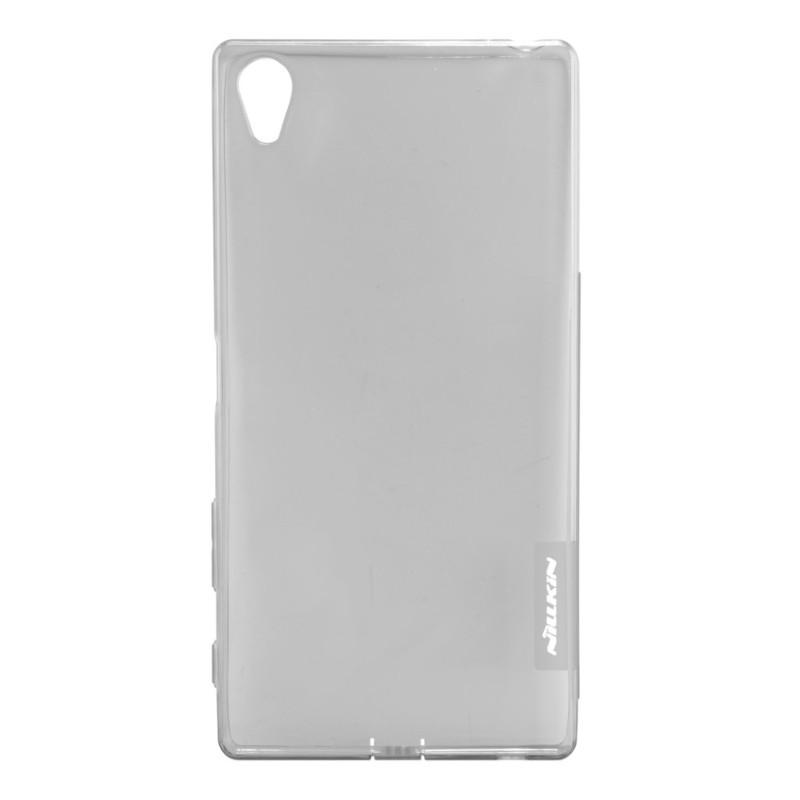 Чохол-накладка Nillkin для Sony Xperia Z5 Premium Nature ser. TPU Прозорий-сірий(108387)