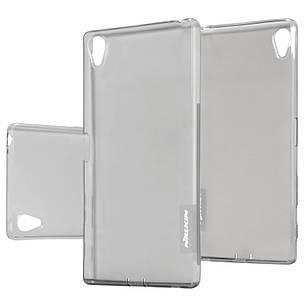 Чохол-накладка Nillkin для Sony Xperia Z5 Premium Nature ser. TPU Прозорий-сірий(108387), фото 2