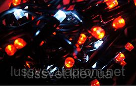 Гирлянда светодиодная бахрома GNT ICICLE 150LED 3*0,5м разные цвета (бел./черн. кабель)