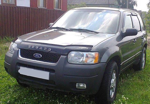 Дефлектор капота, мухобойка Ford Escape I c 2000-2007 г.в.