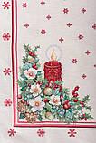 """Наперон\доріжка на стіл """"Різдвяна свічка"""", люрекс, 37х100 см, фото 3"""