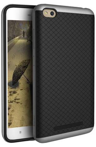 Чохол-накладка iPaky для Xiaomi Redmi 4a TPU+PC Чорний/сірий(333510), фото 2