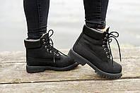 Женские зимние ботинки Timberland (black), зимние ботинки timberland, женские черные ботинки timberland