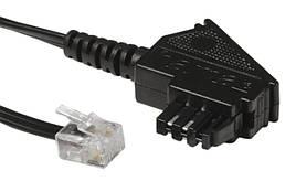 Модульний кабель Hama штекер TAE-N - модульний роз'єм 6p2c 300см Чорний