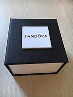 Подарочная упаковка - коробка для часов Pandora (Пандора), черный с белым, фото 1