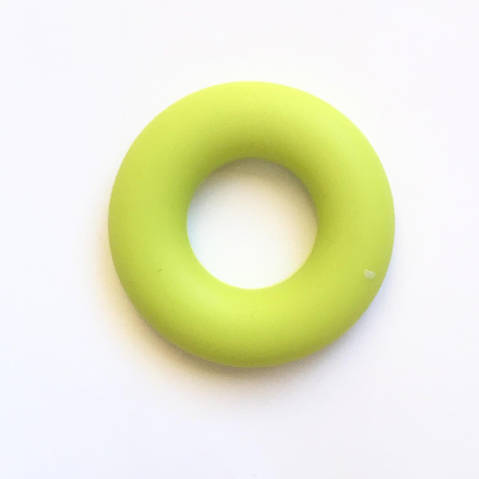 Колечко бублик (салатовое ) 43мм