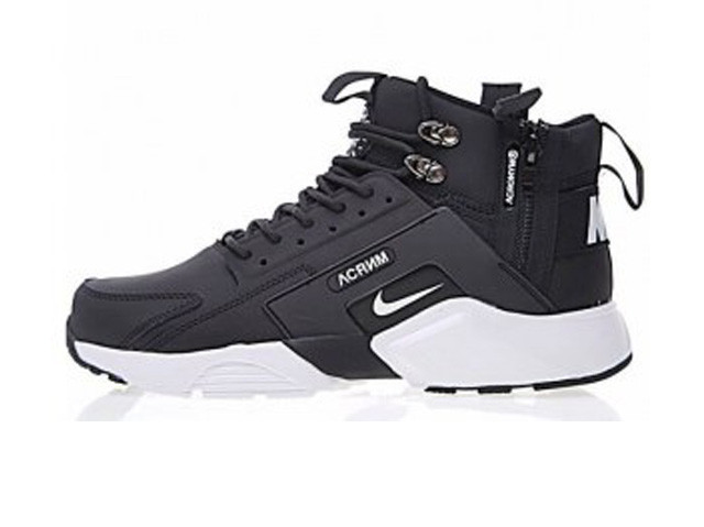 459eb6c2 Зимние Мужские кроссовки Nike Huarache X Acronym City Winter Black/White C  мехом (Реплика