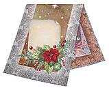"""Наперон\дорожка на стол  """"Праздничная открытка"""", люрекс, 37х100 см, фото 2"""