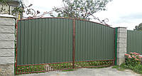 Ворота закрытые профнастилом 5650