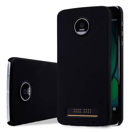Чохол-накладка Nillkin для Motorola Moto Z Play Matte ser. +плівка Чорний, фото 2