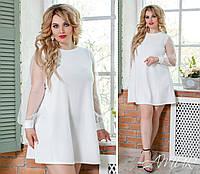 Платье нарядное рукав евро сетка 42-54, фото 1