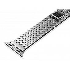 Ремінець Icarer для Apple iWatch 42mm Armor Stainless Watchband ser. Сріблястий, фото 2