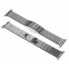 Ремінець Icarer для Apple iWatch 42mm Armor Stainless Watchband ser. Сріблястий, фото 3