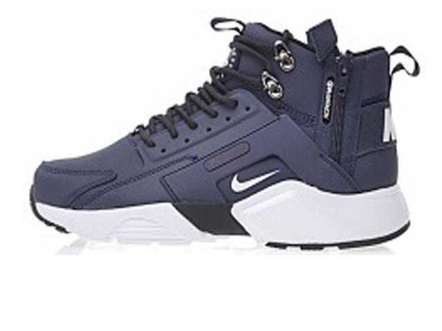 94a2f443 Зимние Мужские кроссовки Nike Huarache X Acronym City Winter Blue/White C  мехом (Реплика ААА+)