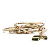 Кабель LDNIO LS24 microUSB New powerful chardind ser. Gold
