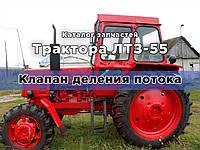 Каталог запчастей тракторов ЛТЗ-55А, ЛТЗ-55АН, ЛТЗ-55, ЛТЗ-55Н | Клапан деления потока