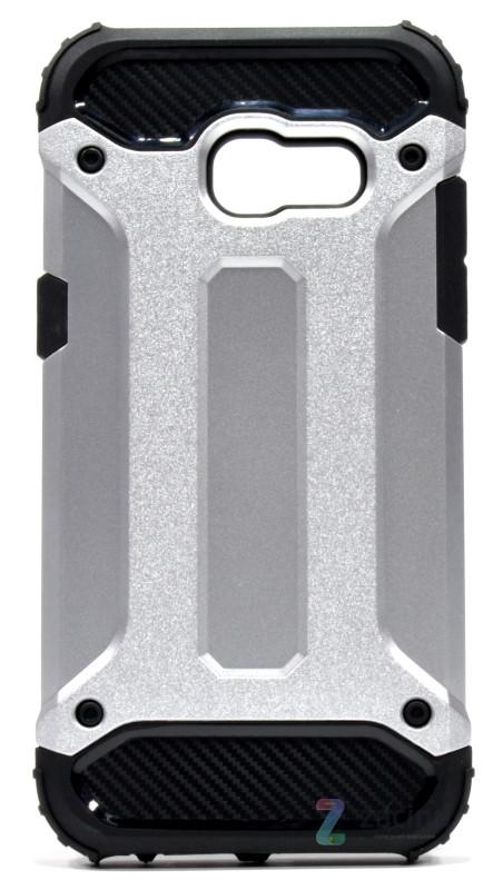 Чехол накладка для Samsung A320F A3 (2017) Immortal ser. TPU + PC Серебристый (342741)
