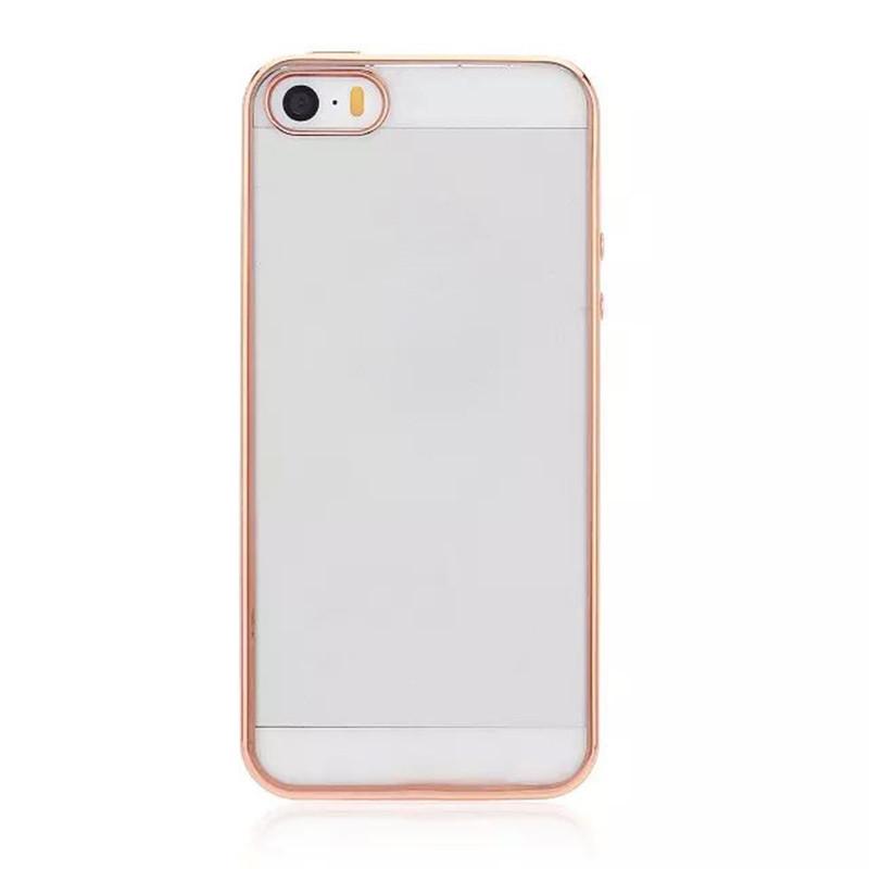 2ca661779ebe0c Чохол-накладка для iPhone 5/5S/SE Прозорий/золотистий(308266), цена ...