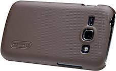 Чохол-накладка Nillkin для Samsung S7272 Matte ser. +плівка Коричневий, фото 3