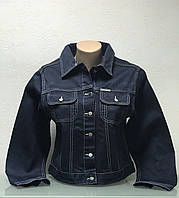 Куртка женская джинсовая темно синяя, фото 1