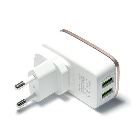 Зарядное устройство LDNIO A2204 + cable micro USB New powerful charging ser. White, фото 2