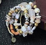 Женский браслет-пружина Primo Stone Cuff - White, фото 2